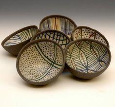 Black Stoneware bowls by DavilaSerra