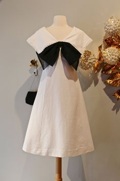 Vintage 1960s Sailor Dress ~ Vintage 60s Nautical Dress ~ Adorable 60s Mod Dress With Huge Bow by xtabayvintage on Etsy