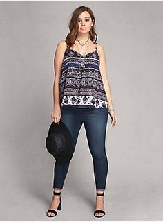 "<p>What are you waiting for? This tank top is a hop, skip, and a jump away from your next vacay. Multi-color, multi-print, and multi-faceted (it can be boho or bold) this woven tank gets moving-and-grooving with a pleated front.</p>  <p> </p>  <p><b>Model is 5'11"", size 1</b></p>  <ul> 	<li>Size"