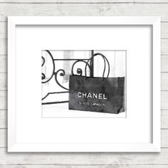 Chanel Shopping Bag, Fine Art Print, Watercolor Art Print, Coco Chanel Home Decor, Bedroom Living Room Bathroom Luxury Fashion Wall Art by ChezLorraines on Etsy https://www.etsy.com/listing/219451627/chanel-shopping-bag-fine-art-print