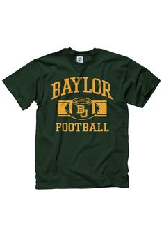 Baylor Bears Mens Green Football Short Sleeve Tee http://www.rallyhouse.com/baylor-mens-green-football-short-sleeve-tee-22783203?utm_source=pinterest&utm_medium=social&utm_campaign=Pinterest-BaylorBears $16.95
