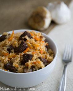 Beef Plov (Beef Rice Pilaf) Recipe. Sounds Tasty!