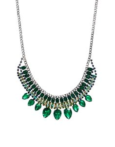 pretty emerald statement necklace from ASOS