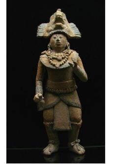 escultura en terracota,arte Maya