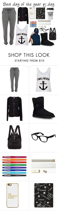 """Spirit week"" by unknownandloveit on Polyvore featuring Calvin Klein, Velvet by Graham & Spencer, UGG Australia, Ray-Ban, Paper Mate, Kate Spade, BaubleBar and Casetify"