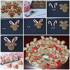 Cute Reindeer Cookies With UPSIDE DOWN Gingerbread ---Your kids will have lots of fun decorating them for Christmas.  Recipe--> http://wonderfuldiy.com/wonderful-diy-cute-reindeer-cookies-with-gingerbread/
