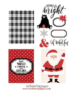 Webster's Pages - a leader in the craft & hobby industry Free Printable Cards, Free Christmas Printables, Free Printables, December Daily, Christmas Scrapbook Paper, Large Scrapbook, Christmas Journal, Websters Pages, Project Life Cards