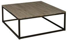 Table basse carrée 1x1 m