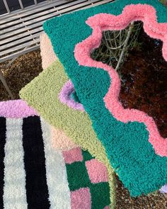 Funky Rugs, Cool Rugs, Diy Room Decor, Bedroom Decor, Rug Inspiration, Indie Room, Aesthetic Room Decor, Decoration, Crafts