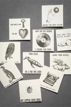 Love letter note cards from Bhldn via Apartment Therapy