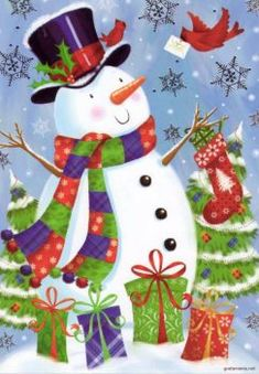 Christmas - No.30 (70 pieces) Christmas Scenes, Christmas Past, Christmas Snowman, Christmas Projects, Vintage Christmas, Christmas Holidays, Christmas Cards, Christmas Ornaments, Snowman Images