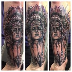 Indian woman tattoo took 6 hours. I love my new ink