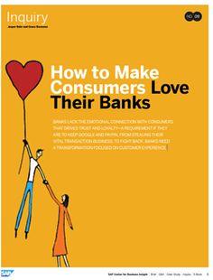 Banken finden in der Beziehung zu ihren Kunden nicht zu der notwendiger emotionalen Verbindung wie andere Anbieter. Um gegen neue Wettbewerber bestehen zu können, ist mehr Kundenorientierung und die Beachtung der Customer Experience notwendig.