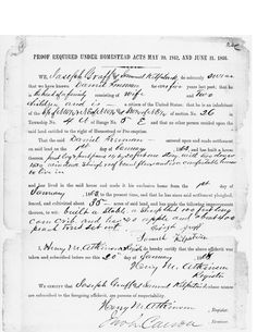 Daniel Freeman's witnesses testify that Daniel is the head of the family and has cultivated his land.