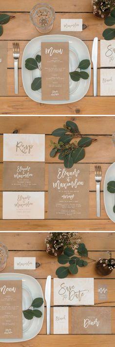 mariage organic | wedding invitation | stationery | papeterie mariage | mariage nature | mariage vegetal | kraft