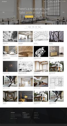 Made for interior designers and architects, Ambient's set of easily customizable homepage layouts helps you launch your website in no time. Interior Design Portfolios, Interior Design Themes, Office Interior Design, Interior Inspiration, Portfolio Design, Homepage Layout, Scandinavian Interior, Rustic Interiors, Clean Design
