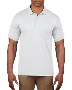 Gildan® DryBlend® Adult Jersey Sport Shirt with Pocket