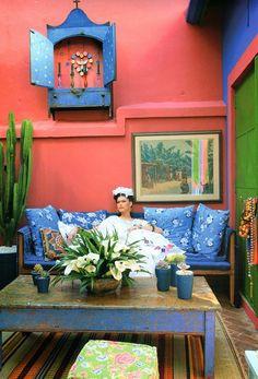 Decoração com Frida Kahlo http://decoralavidafrida.blogspot.com.br/2014/12/decora-la-vida-frida.html