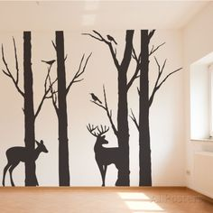 Deer in the Forest Wall Decal at AllPosters.com I would love this in white or light tan on a beige wall