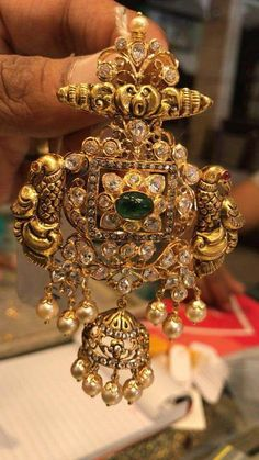 Looking for big pendant designs? Here are our picks of 21 designs and where you can shop them online! Indian Jewelry Earrings, Jewelry Design Earrings, Gold Earrings Designs, Gold Jewellery Design, Necklace Designs, Jewelery, Gold Designs, Handmade Jewellery, Personalised Jewellery
