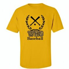 Fun t-shirts for any school baseball team!