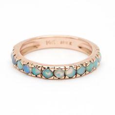 Thin Stacking Ring - Opal – Arik Kastan