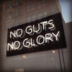 No guts - neon sign