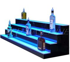 34 4 step LED lighted Bar Shelf Liquor Bottle by LedBaselineinc
