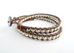Hey, I found this really awesome Etsy listing at http://www.etsy.com/listing/108368126/wrap-bracelet-brown-leather-silver