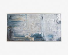 Scandinavian Designs - The Lyde abstract painting features a moody seascape of…