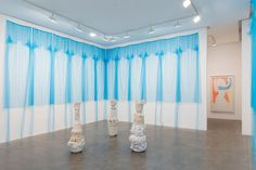 Susan Inglett Gallery exhibit a room size fabric and ceramic installation by Beverly Semmes