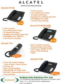 Alcatel Analog Phone and IP Phone Systems for Business & Home.  #Alcatel #IPphone #IPphonesInIndia #AlcatelAnalogPhone #VoipInIndia #BusinessPhoneSystems #Radiant #Business #IpPhoneSystems