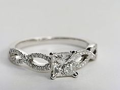 Blue Nile Infinity Twist Micropave Diamond engagement ring