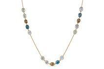 Multicolor Gemstone Station Necklace