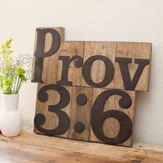 Introducing the NEW Letterpress Blocks! Proverbs 3:6 #WordsMatter #CreateYourOwnWord