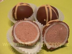 Kaštanové kuličky v marcipánu Dessert Recipes, Desserts, Nutella, Food And Drink, Cooking Recipes, Sweets, Baking, Fine Dining, Eten