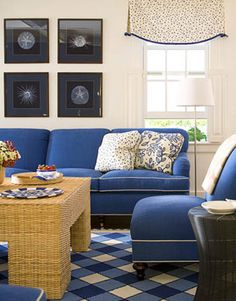 Nantucket Living Room with Modern Wicker
