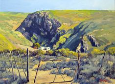 ted-hoefsloot-scene-near-calitzdorp African Paintings, South African Artists, Afrikaans, Holland, Ted, Landscaping, Art Gallery, Rocks, Stones