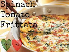 Spinach Tomato Frittata - 21 Day Fix Recipes - Clean Eating Recipes Breakfast recipes weight loss healthy eating - 21 Day Fix Meals - recipes www.simplecleanfitness.com