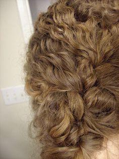 Curly hair braid.