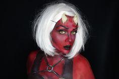 Devil makeup. Red devil Makeup. Beautiful devil makeup.