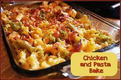 Chicken and Pasta Bake http://www.momspantrykitchen.com/chicken-and-pasta-bake.html