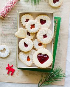 Holiday Recipes 69508 For Christmas treats, what better than homemade jam cookies. Homemade Biscuits, Homemade Cookies, Holiday Cookie Recipes, Holiday Cookies, Polish Potato Pancakes, Jam Cookies, Thermomix Desserts, Christmas Treats, Christmas Jam