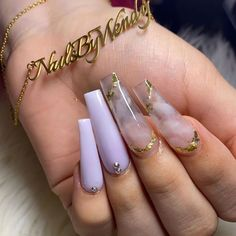 𝔫𝔞𝔦𝔩 𝔦𝔫𝔰𝔭𝔬 🌟 on Inst Purple Acrylic Nails, Blue Nail, Best Acrylic Nails, Summer Acrylic Nails, Purple Nails, Summer Nails, Glam Nails, Bling Nails, Cute Acrylic Nail Designs
