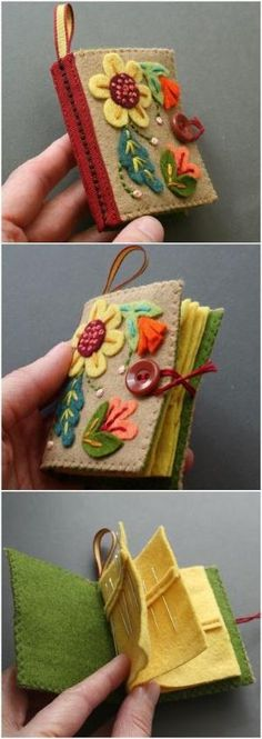 Best Ideas For Craft Sewing Ideas Pin Cushions Fun Diy Crafts, Felt Crafts, Fabric Crafts, Sewing Crafts, Sewing Projects, Arts And Crafts, Felt Diy, Creative Crafts, Needle Case