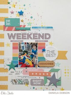 ~ the best memories scrapbook layout by Daniela Dobson for Elle's Studio