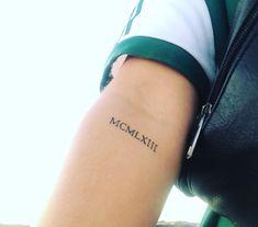 Tattoos for men Roman Numeral Tattoo Font, Roman Numbers Tattoo, Tattoo Script, Tattoo Fonts, Roman Numerals, Tattoo Quotes, Band Tattoos, Number Tattoos, Tattoos Skull
