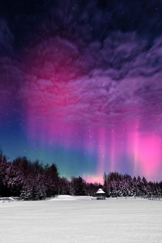 Moonlight Aurora in Finland