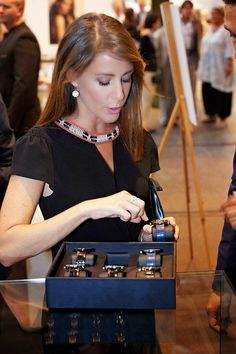 Princess Marie of Denmark during the Copenhagen Jewelry and Watch Show 2014