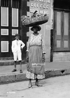 Going to market, Port of Spain, Trinidad